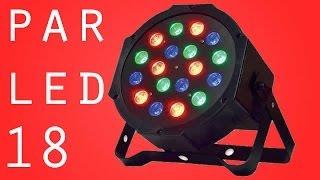 getlinkyoutube.com-CANHÃO FLAT PAR LED 18 LEDS RGB 1 WATT DJS FESTAS ILUMINAÇÃO REFLETOR ILUMINADOR STROBO FLASH