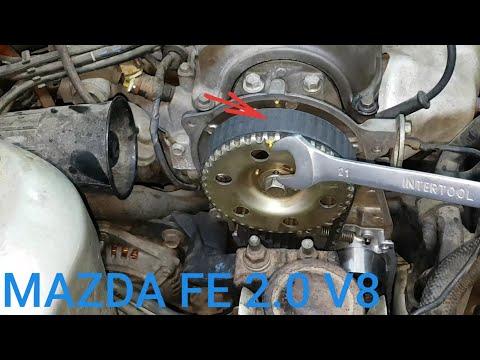Mazda 626 FE 2.0 FS valve 8 замена помпы грм