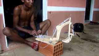 getlinkyoutube.com-Boy Makes DIY Excavator with Syringe Hydraulics