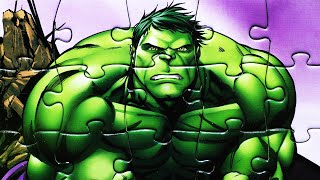 getlinkyoutube.com-Puzzle Games MARVEL AVENGERS Play Rompecabezas De Hulk Thor Captain America Iron Man Black Widow