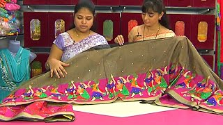 getlinkyoutube.com-Latest Collection of Fancy Designer Sarees | Sogasu Chuda Tarama | Vanitha TV