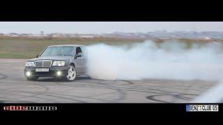 getlinkyoutube.com-Burnout - Mercedes Benz: CLS55 AMG, CLS63 AMG, C43 AMG, E500 w124, E55 AMG, Mazda RX-8 & BMW M5