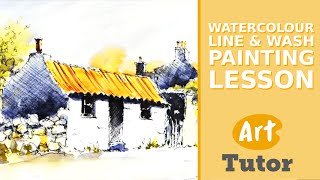 getlinkyoutube.com-Watercolour Line & Wash Painting Lesson