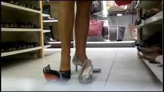 getlinkyoutube.com-Shoe shopping (High heels, Talons hauts, Stöckelschuhe)