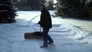 getlinkyoutube.com-How to Shovel Snow with a Home Made Push Plow