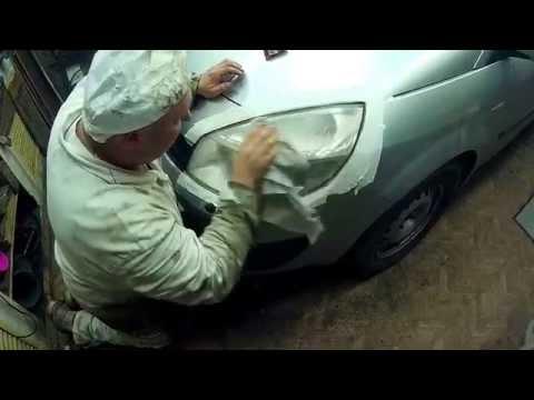 Полировка фар на Renault Scenic 2006