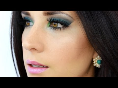 Maquillaje Bella Sirena Verde & Azul UD Electric