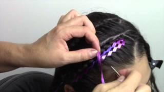 getlinkyoutube.com-Peinado facil con cinta para niña!!