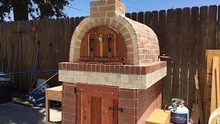 getlinkyoutube.com-Pizza oven (Horno de leña y gas)