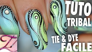getlinkyoutube.com-Tuto nail art débutants : dégradé et motif tribal abstrait