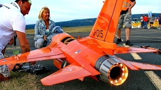 "getlinkyoutube.com-F-16 COBRA GIANT RC SCALE MODEL JET FLIGHT DEMO ""DISPLAY PILOT BY IQ-HAMMER"" / Bayreuth 2016"