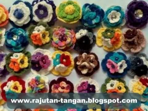 Bross Rajut Type Bross Rose Pilihan Pelanggan 3...  Bross Rajut N&N Collection Malang...