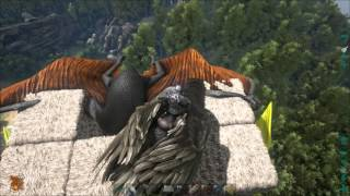 getlinkyoutube.com-Ark: Survival Evolved - Taming a quetzal with a flying cage
