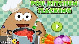 getlinkyoutube.com-Pou Kitchen Slacking - Funny Game for Kids