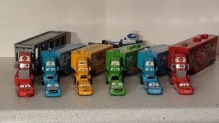 getlinkyoutube.com-Pixar Cars, The Haulers, with Mack, Lightning , Chick Hicks and Octane Gain Haulers