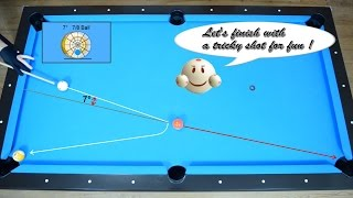 getlinkyoutube.com-How to measure Cut Angle of 7 degrees - 7/8 Ball  - Aiming System - Pool & Billiard Lesson