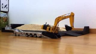 getlinkyoutube.com-Excavator RC pelle mécanique Komatsu