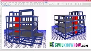Etabs 2015 Tutorial 1 - Modelling of a commercial building