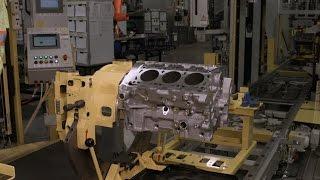 getlinkyoutube.com-Assembling a V6 Engine