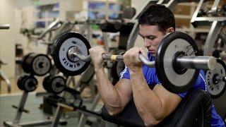 Rosca Scott com Barra W - Exercício para Bíceps - Baixe o App!
