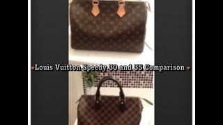 getlinkyoutube.com-Louis Vuitton review and comparison  (speedy 30 and 35)
