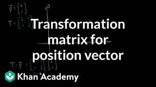 Transformation matrix for position vector   Matrices   Precalculus   Khan Academy