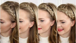 getlinkyoutube.com-Four Headband Braids