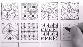 getlinkyoutube.com-Patterns For Doodling | 24 Doodle Patterns, Zentangle Patterns, Mandala Patterns