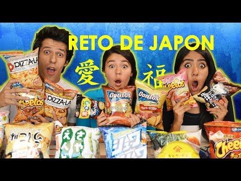 Reto con BOTANAS JAPONESAS!!   #RetoPolinesio