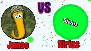 getlinkyoutube.com-JUMBO vs SIRIUS // Agario Last Man Standing Gameplay // Agar.io