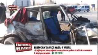 Feci Trafik Kazasında Can Pazarı; 4 Yaralı
