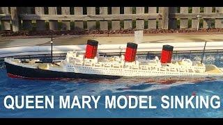 getlinkyoutube.com-LEGO Queen Mary Model Sinking 【7+ ft model】