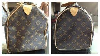 getlinkyoutube.com-Louis Vuitton Speedy Piping Repair!