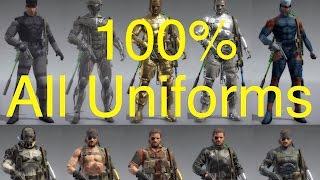 getlinkyoutube.com-MGSV: Phantom Pain - All Snake Uniforms (100% Complete) Metal Gear Solid 5 Secrets: Part 56