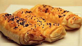 getlinkyoutube.com-Turkish Borek Recipe - Crispy Turkish Pastry with Feta Cheese
