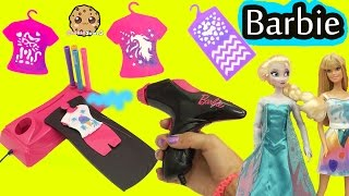 getlinkyoutube.com-Airbrush Designer Maker - Make Custom Doll Clothing for Barbie + Disney Frozen Queen Elsa
