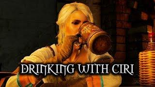 getlinkyoutube.com-The Witcher 3: Wild Hunt - Drinking with Ciri
