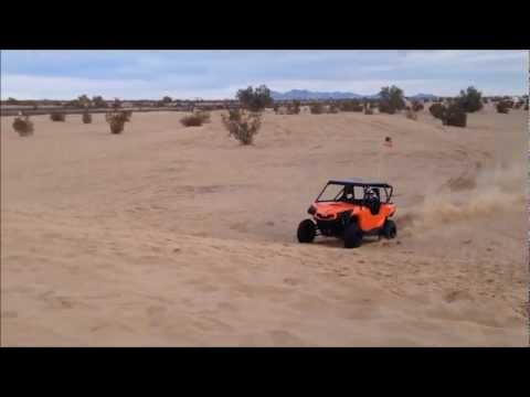 13 year old jumping a Can-Am Commander 1000 in Glamis Sand Dunes