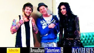 getlinkyoutube.com-Black Veil Brides Interview #5 Andy Biersack ft. Danny Worsnop Asking Alexandria UNCUT 2012