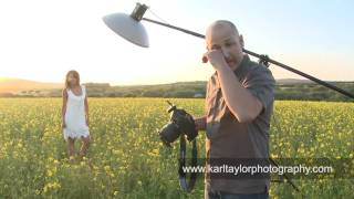 getlinkyoutube.com-Sexy Fashion Shoot in a Field of Flowers! - Karl Taylor Photography