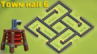 getlinkyoutube.com-Clash of clans - Town hall 6 (TH6) Hybrid base [The trap] with AIR SWEEPER