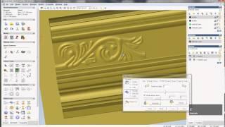 getlinkyoutube.com-Make another relief in ArtCAM, ArtCAM relief tutorial