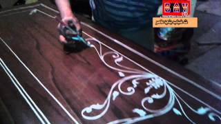 getlinkyoutube.com-فن الزخرفة علي الخشب شاهد ماذا يفعل الخطاطوالرسام مصطفي صبري