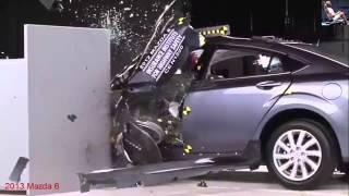 getlinkyoutube.com-2013-2015 New Crash Test Audi A4 BMW Mazda 6