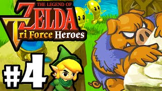 The Legend of Zelda Triforce Heroes PART 4 Gameplay Walkthrough Online Co-Op (Riverside Kokiri) 3DS
