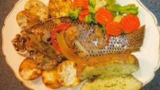 getlinkyoutube.com-HOW TO COOK JAMAICAN BAKE FISH AND OKRA WITH CRACKERS RECIPE 2015