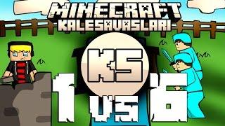 getlinkyoutube.com-Minecraft: NDNG Kale Savaşları - 1VS6 - Tuzak Kalesi 2 YILBAŞI ÖZEL w/Ghostgamer