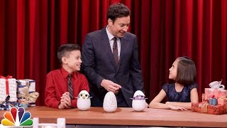 Jimmy Demos the Hottest Christmas Toys with Kid Experts Evan and Jillian