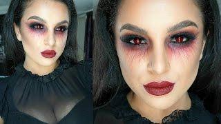 getlinkyoutube.com-Vampire Halloween Makeup Tutorial 2015 | Makeup By Leyla