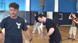 getlinkyoutube.com-Systema Master Vladimir Vasiliev vs MMA Fighter Commentator Wolfman Heavy Strikes Punches!